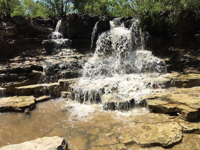 Sante Fe Lake Falls in Kansas