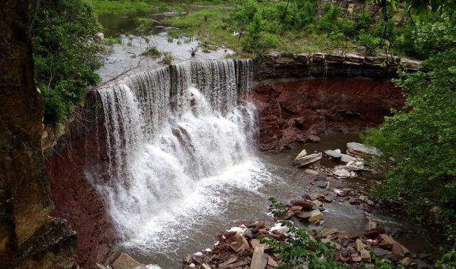 Waterfalls in Kansas