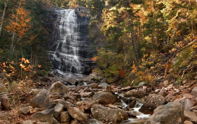 Arethusa Falls Trail in Eastern New Hampshire