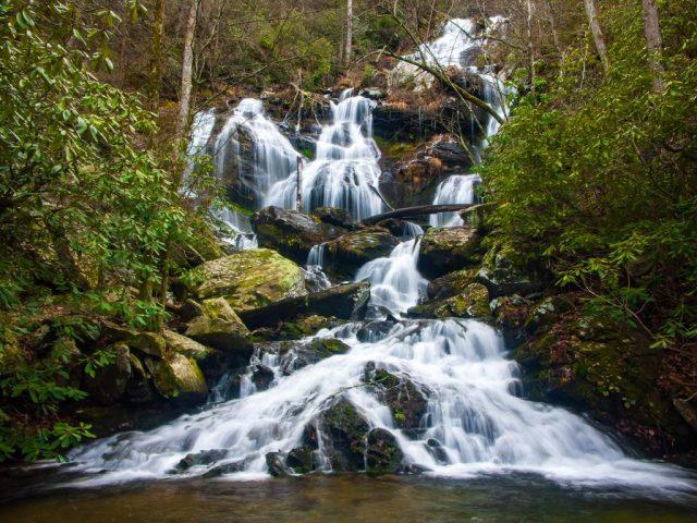Catawba Falls Trail in Western North Carolina