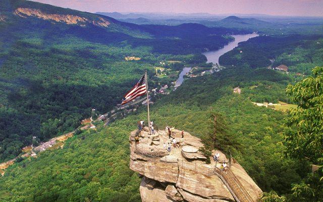 Chimney Rock State ParkTrail in Southern North Carolina
