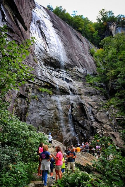 Hickory Nut Falls Trail in Southern North Carolina
