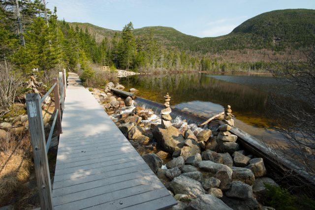 Lonesome Lake Trailin Western New Hampshire