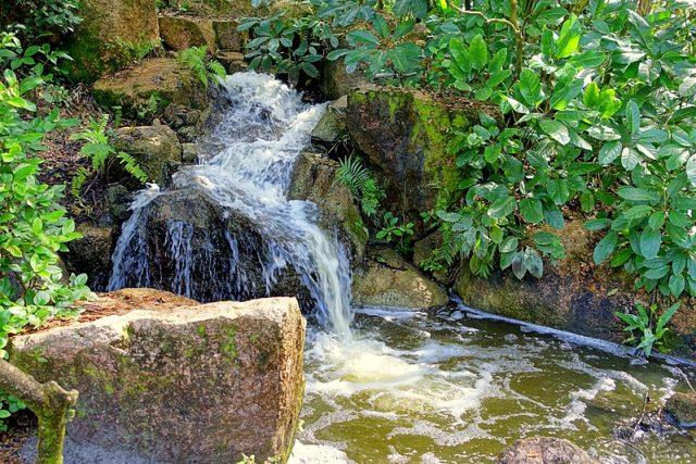 Morikami Japanese Gardens Falls in Florida