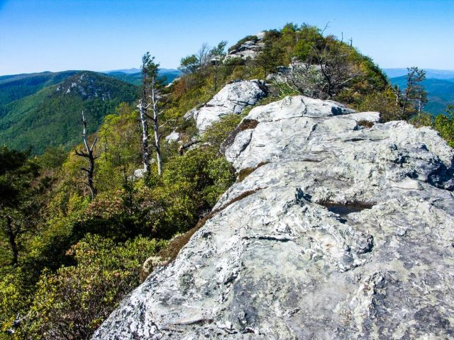 Table Rock Summit Trail in Western North Carolina