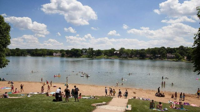 Lake MacBride in Eastern Iowa