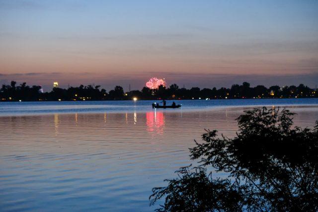 Lake Manawa in Western Iowa
