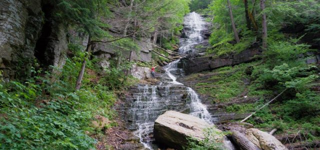 Lye Brook Falls in Southern Vermont