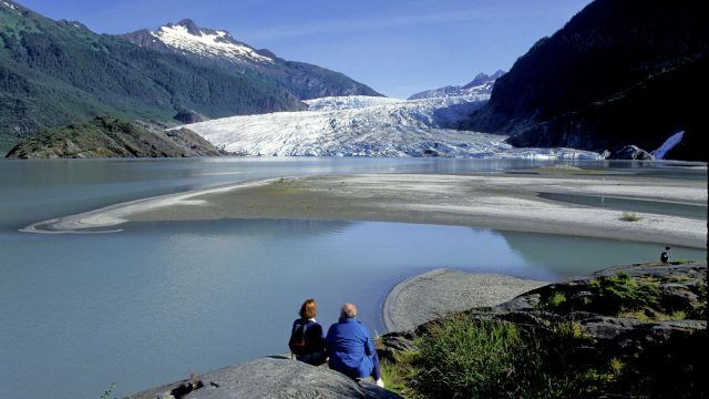 Mendenhall Lake in Alaska