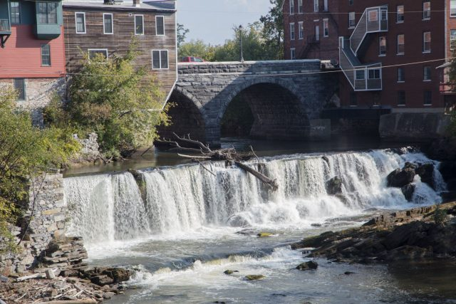 Middlebury Falls in Western Vermont