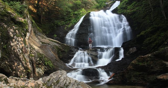 Moss Glen Falls in Northern Vermont