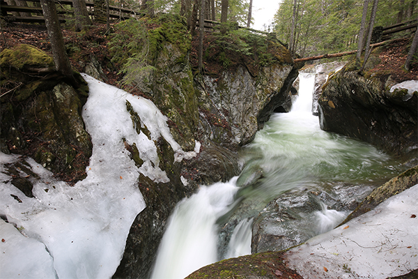 Texas Falls in Western Vermont