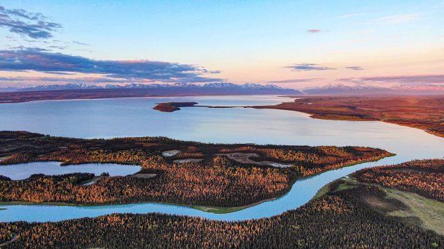 Tustumena Lake in Alaska