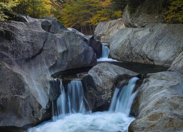 Warren Falls in Central Vermont