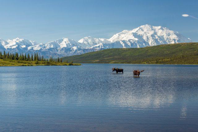 Wonder Lake in Alaska